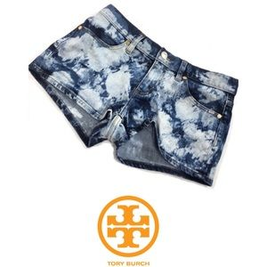 Tory Burch Tie Dye Acid Wash Jean Short Shorts 31